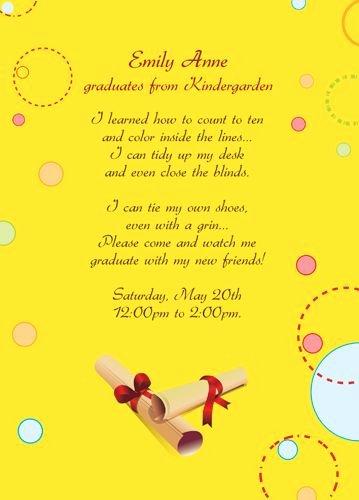 Graduation Invitation Template Word Inspirational Free Printable Graduation Invitations for Kindergarten