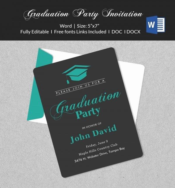 Graduation Invitation Template Word Luxury 50 Microsoft Invitation Templates Free Samples