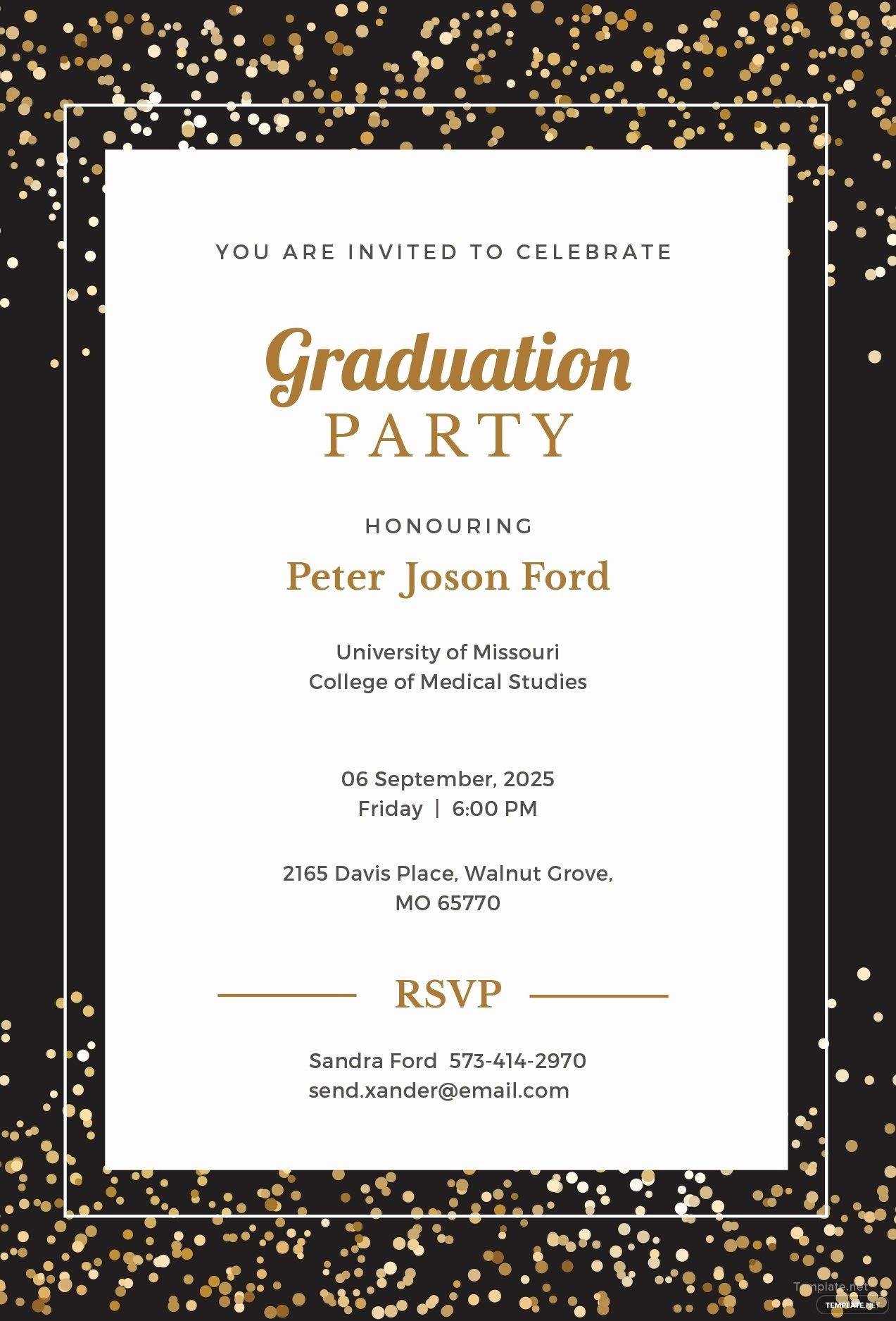 Graduation Invitation Template Word Luxury Free Simple Graduation Invitation Template In Microsoft