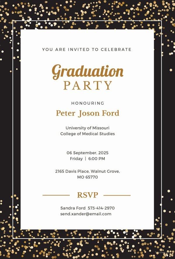 Graduation Invitation Template Word New Graduation Invitation Templates