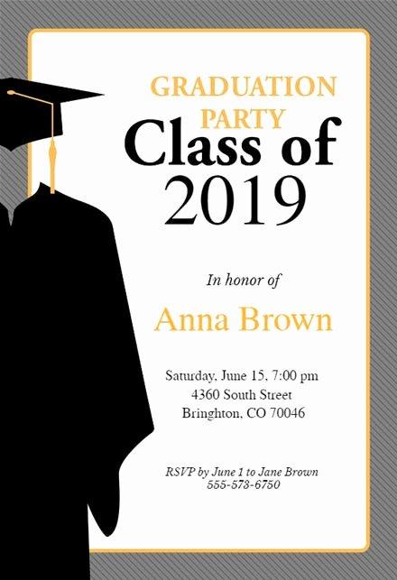 Graduation Invitation Template Word New Graduation Party Invitation Templates Free