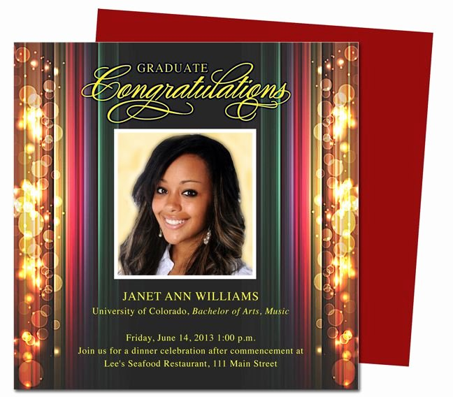 Graduation Invitation Template Word New Stage Graduation Party Announcements Templates Use with