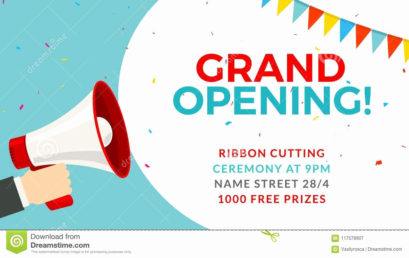 Grand Opening Flyer Template Free Awesome Grand Opening Flyer Banner Template Marketing Business