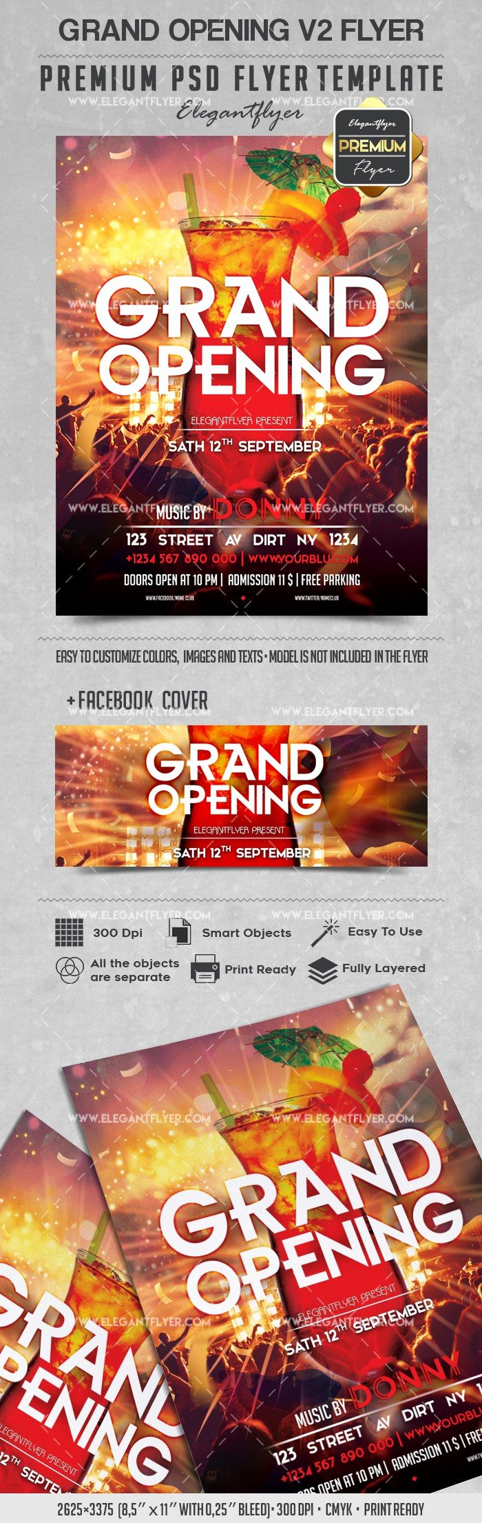 Grand Opening Flyer Template Free Awesome Grand Opening V2 – Flyer Psd Template – by Elegantflyer