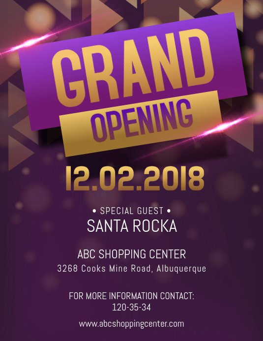 fancy grand opening flyer template