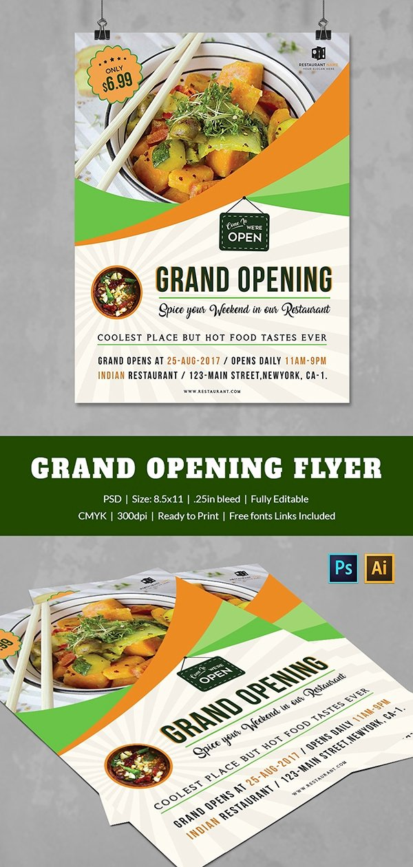 Grand Opening Flyer Template Free Beautiful Grand Opening Flyer Template 34 Free Psd Ai Vector