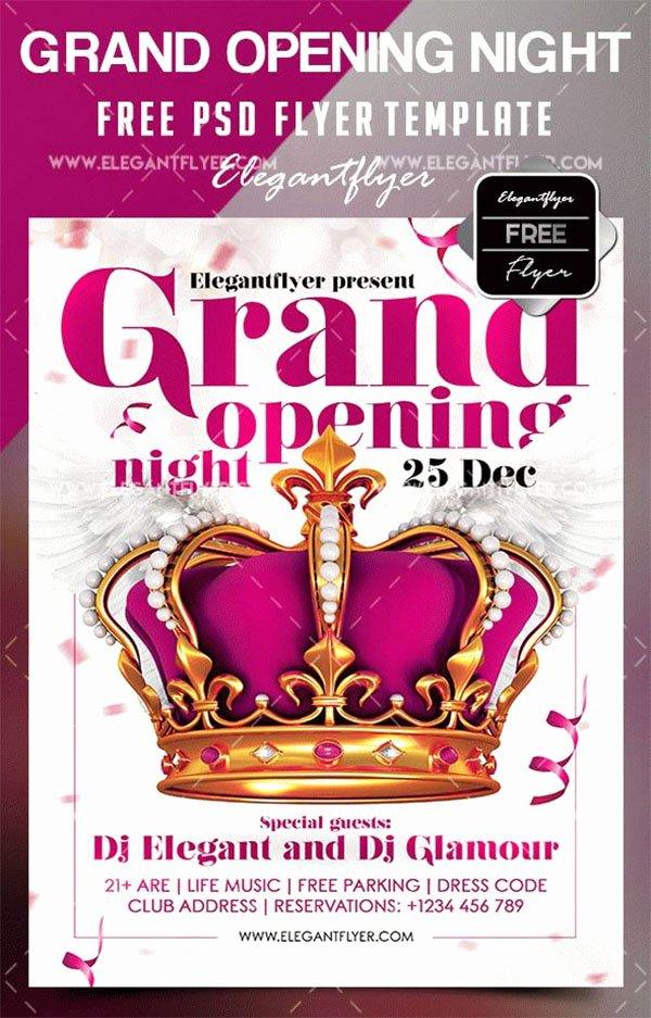 Grand Opening Flyer Template Free Elegant 48 Grand Opening Flyer Templates Free & Premium Psd