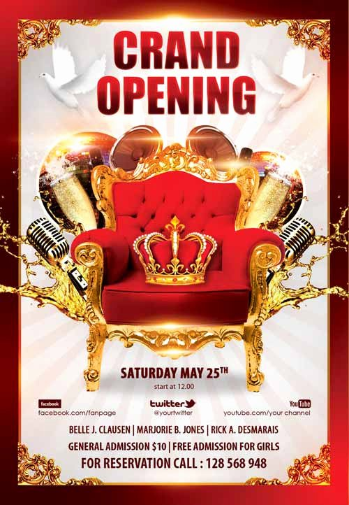Grand Opening Flyer Template Free Fresh Download the Grand Opening Party Free Flyer Template