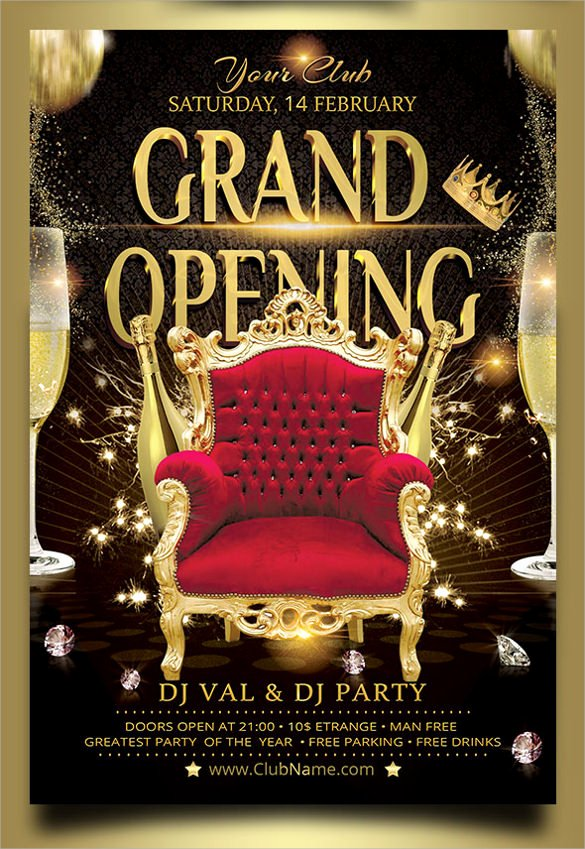 Grand Opening Flyer Template Free Fresh Grand Opening Flyer Templates 15 Download Documents In