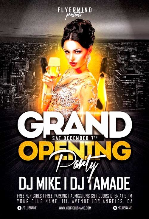 Grand Opening Flyer Template Free Inspirational Free Grand Opening Party Flyer Template Vol 1