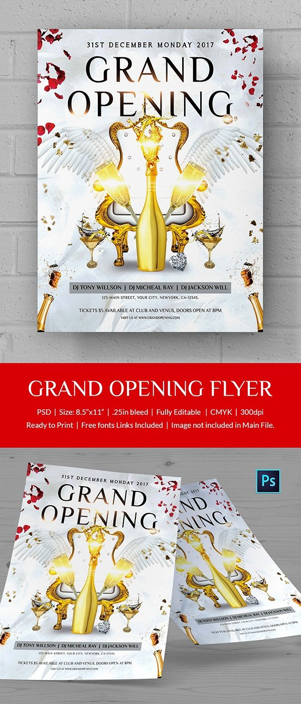 Grand Opening Flyer Template Free Inspirational Grand Opening Flyer Template 34 Free Psd Ai Vector