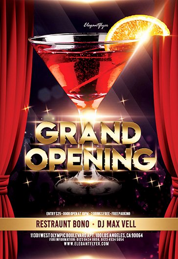 Grand Opening Flyer Template Free Inspirational Grand Opening – Free Flyer Psd Template – by Elegantflyer
