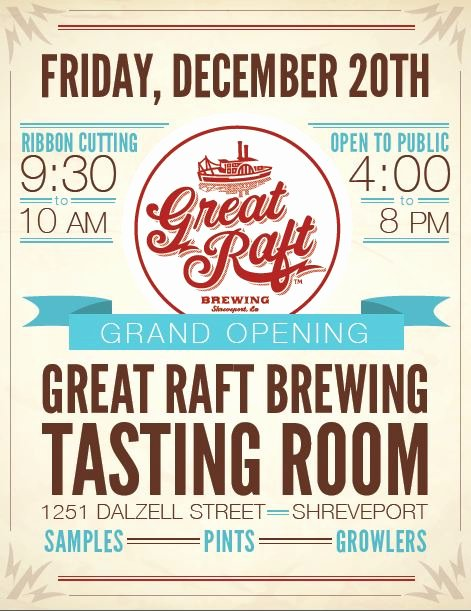Grand Opening Flyer Template Free Inspirational Great Raft Brewing Opens First Local Brewing Tasting Room