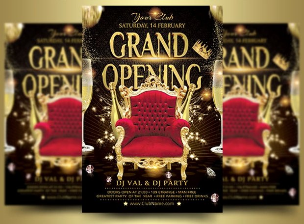 Grand Opening Flyer Template Free Lovely 21 Grand Opening Flyer Templates Printable Psd Ai