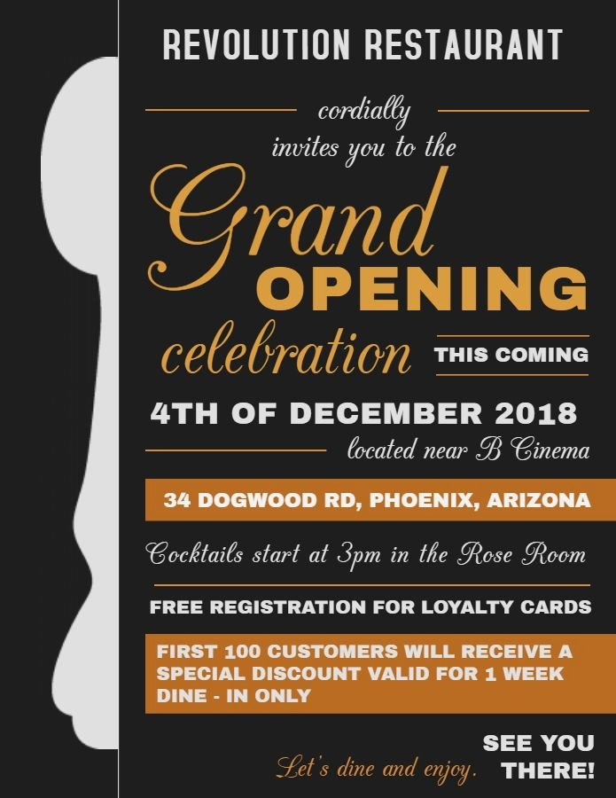 Grand Opening Flyer Template Free Lovely 28 Best Grand Opening Flyer Templates Images On Pinterest
