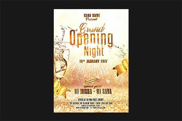 Grand Opening Flyer Template Free Lovely 48 Grand Opening Flyer Templates Free & Premium Psd