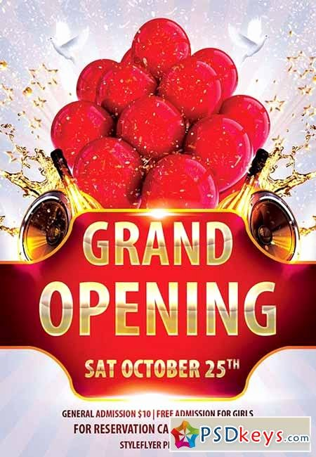 Grand Opening Flyer Template Free Luxury Grand Opening Psd Flyer Template Cover 2 Free