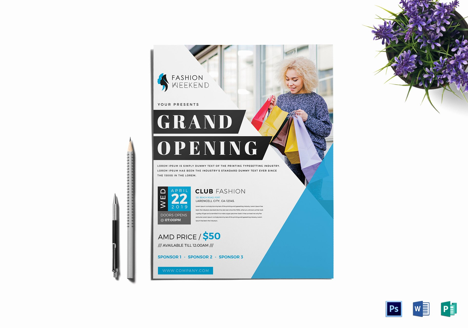 Grand Opening Flyer Template Free New Fashion Grand Opening Flyer Design Template In Word Psd