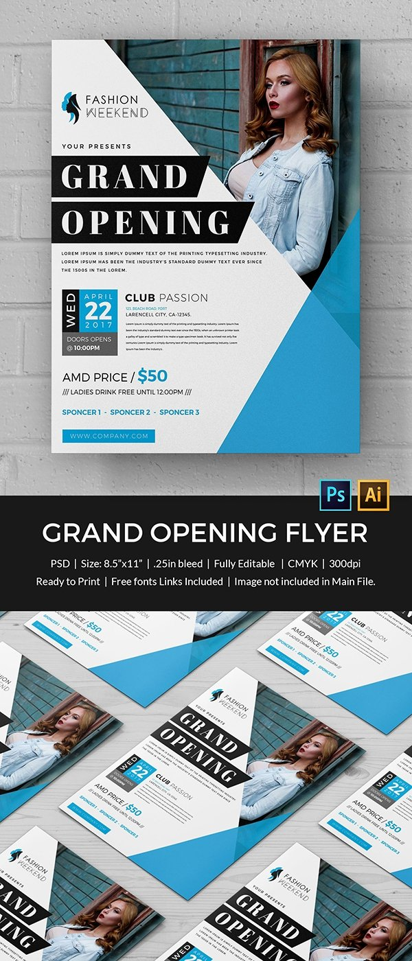 Grand Opening Flyer Template Free Unique Grand Opening Flyer Template 34 Free Psd Ai Vector