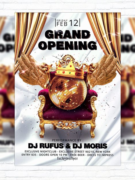 Grand Opening Flyer Template Free Unique Grand Opening – Premium Flyer Template Cover