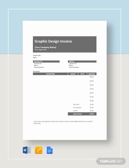 Graphic Design Invoice Template Awesome Sample Graphic Descign Invoice 7 Documents In Pdf Word
