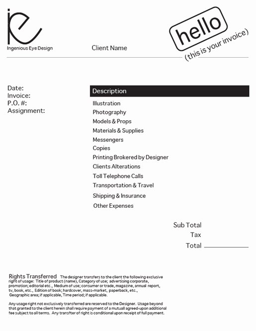 Graphic Design Invoice Template Elegant Design An Invoice that Practically Pays Itself — Sitepoint