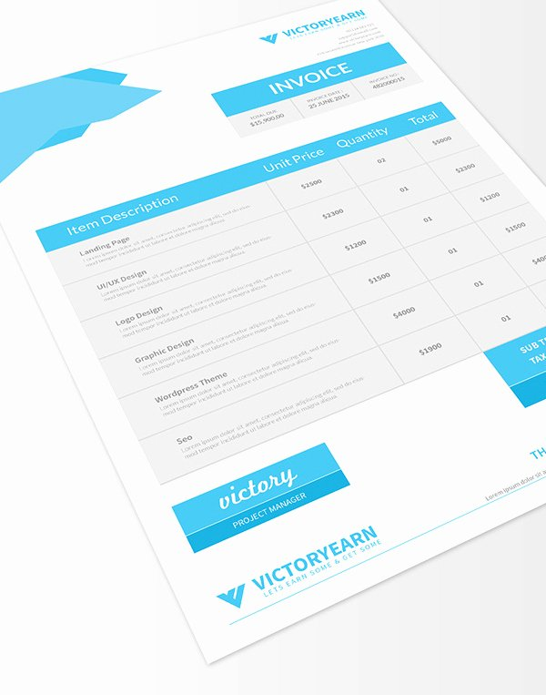 Graphic Design Invoice Template Elegant Freebies 25 New Useful Free Vector and Psd Files