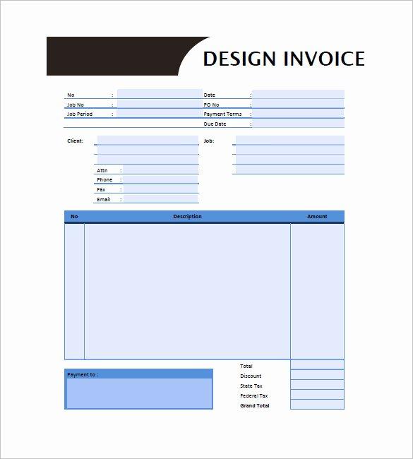 Graphic Design Invoice Template Fresh Graphic Design Invoice Template 14 Free Word Excel