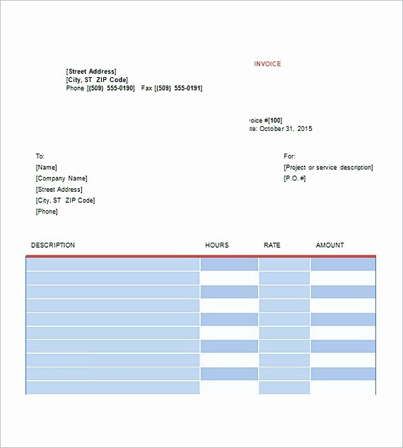 Graphic Design Invoice Template Inspirational Graphic Design Invoice Template
