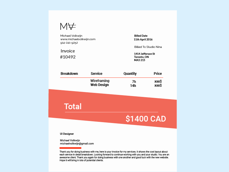Graphic Design Invoice Template Lovely 6 Free Graphic Design Invoice Templates