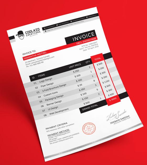 Graphic Design Invoice Template Luxury 15 Best Free Invoice Templates for Graphic Designers 2018