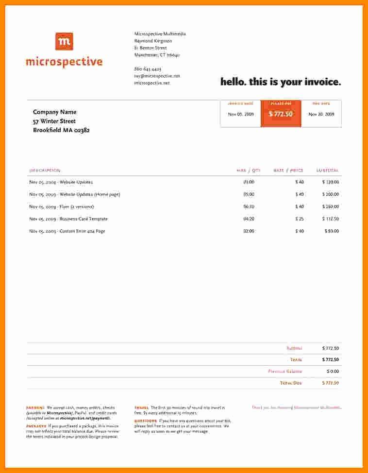Graphic Design Invoice Template New 5 Graphic Designer Invoice Template