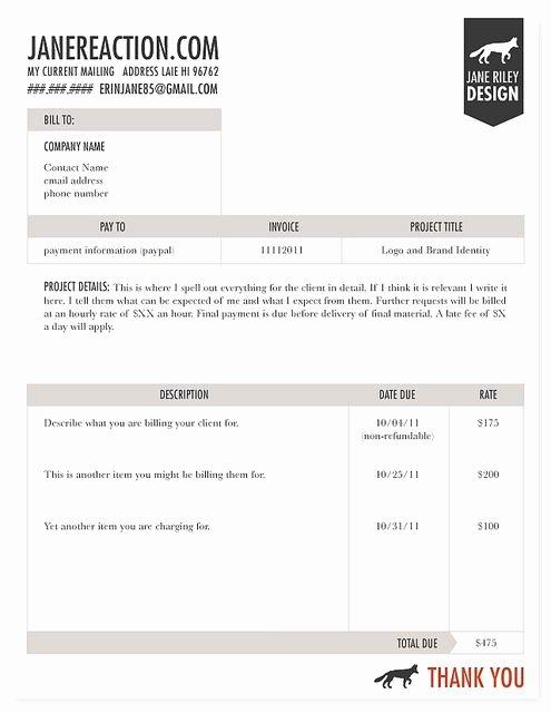 Graphic Design Invoice Template Unique Invoice Design Invoices