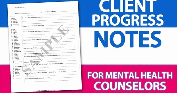 Group therapy Note Template Elegant Easy Client Progress Note Template Tip for Mental Health
