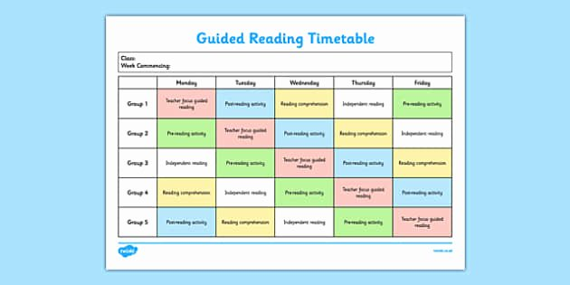t2 e 2033 guided reading timetable