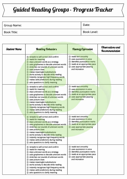 Guided Reading Template Pdf Best Of Guided Reading Folder Templates and Checklists – Teach Starter