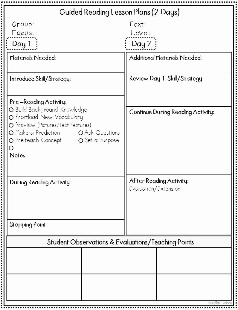 Guided Reading Template Pdf Fresh Guided Reading Lesson Plan Template 3rd Grade – Guided