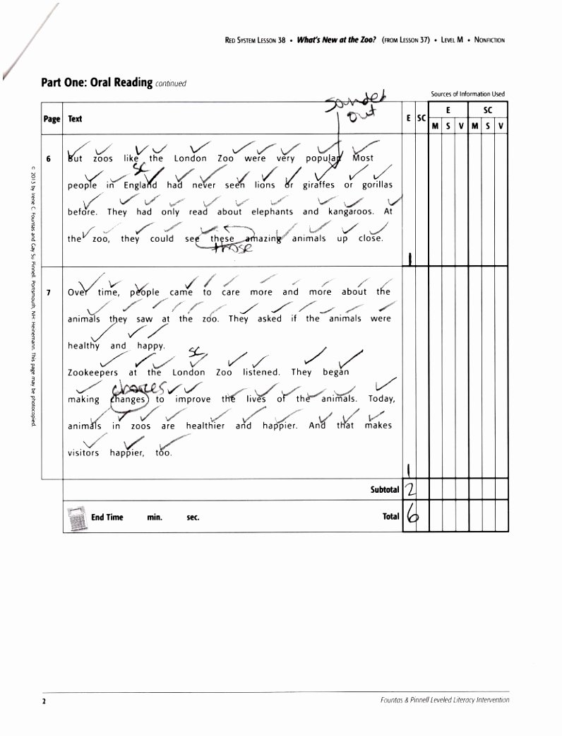 Guided Reading Template Pdf Inspirational 5 Fountas and Pinnell Guided Reading Lesson Plan Template
