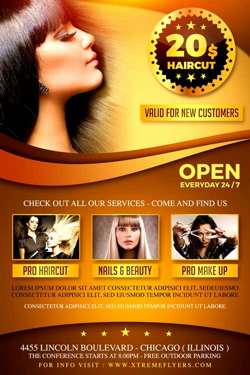 Hair Salon Flyer Templates Free Awesome Hair Salon Flyer Template Xtremeflyers