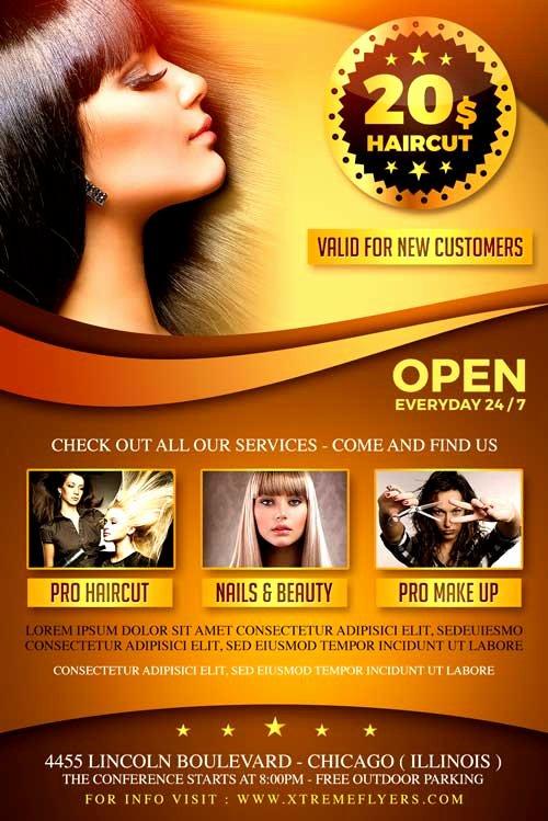 Hair Salon Flyer Templates Free Awesome Hair Salon Flyer Template Xtremeflyers