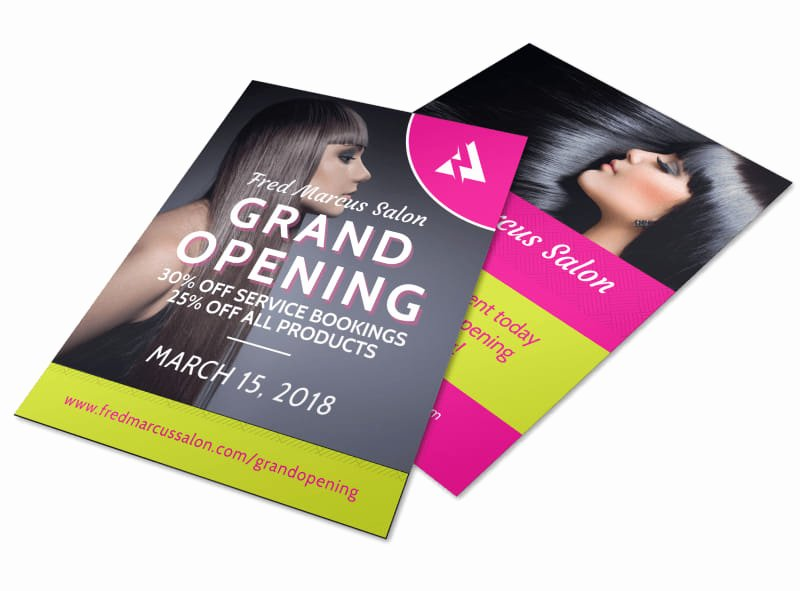 Hair Salon Flyer Templates Free Awesome Salon Grand Opening Flyer Template