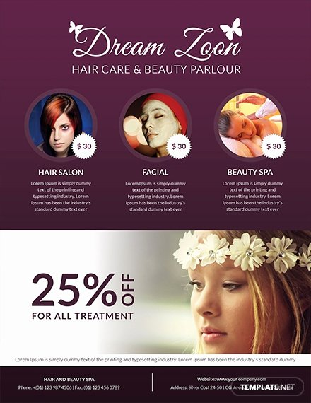 Hair Salon Flyer Templates Free Best Of Free Hair Salon Flyer Template Download 765 Flyers In