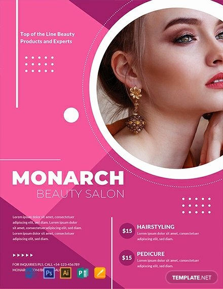 Hair Salon Flyer Templates Free Elegant Free Beauty Salon Flyer Template Word Psd