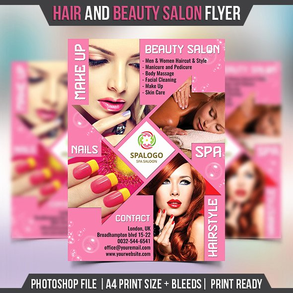 Hair Salon Flyer Templates Free Elegant Hair and Beauty Salon Flyer Template Landisher