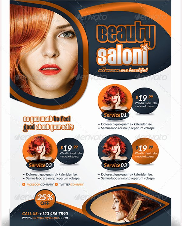 Hair Salon Flyer Templates Free Fresh 84 Beauty Salon Flyer Templates Psd Eps Ai