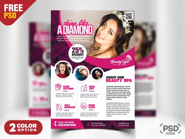Hair Salon Flyer Templates Free Fresh Beauty Salon Flyer Template Psd Psd Zone