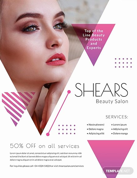 Hair Salon Flyer Templates Free Fresh Free Hair Salon Flyer Template Download 765 Flyers In