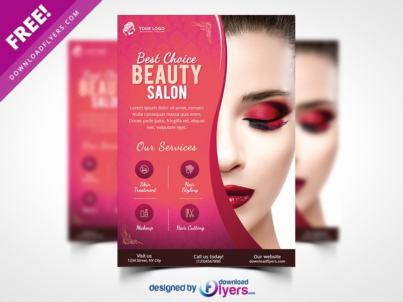 Hair Salon Flyer Templates Free Inspirational Beauty Salon Flyer Template Free Psd by Flyer Psd