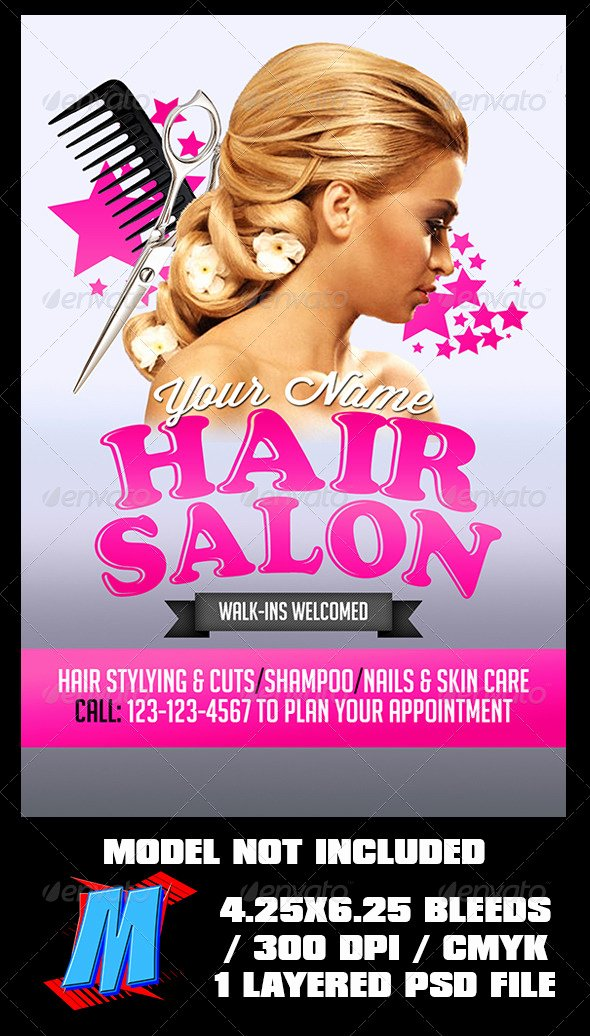 Hair Salon Flyer Templates Free Inspirational Hair Salon Flyer Template by Megakidgfx
