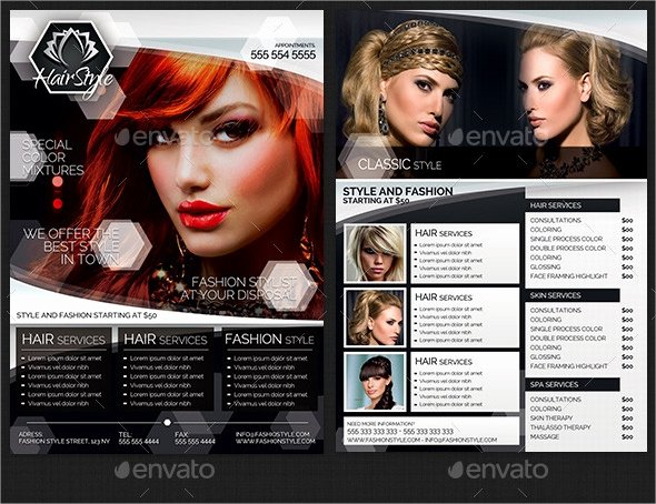 Hair Salon Flyer Templates Free Lovely 21 Hair Salon Flyer Templates Ai Psd Word Eps